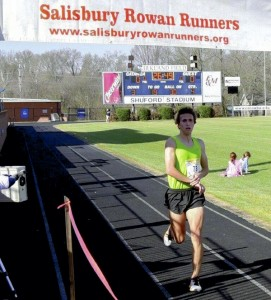 Andris Goncarovs was the winner of Sunday's 33rd Annual Novant Health Winter Flight 8K. Photo by Aaron Cress
