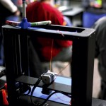 One of the several three-dimensional printers that the students used to make their projects. Jon C. Lakey/Salisbury Post
