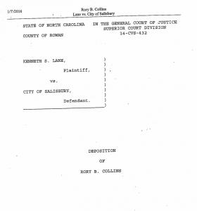 Collins deposition
