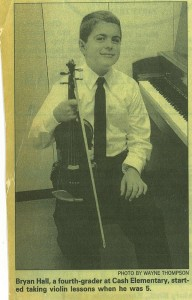 David Hagy first conducted Hall in 1998, when Hall was 10.