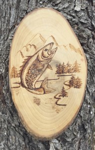 A carving from the Western North Carolina Fly Fishing Trail.  Submitted photo