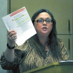 Deborah Graham said during the hearing on Buck Steam Station's coal ash basins that she's repeatedly called public officials about problems in Dukeville, which neighbors the Duke Energy plant, but has gotten no response. Wayne Hinshaw/For the Salisbury Post