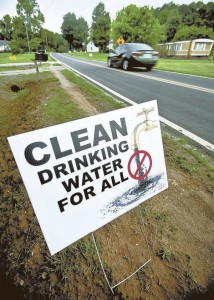 JON C. LAKEY / SALISBURY POST Dukeville residents have been told their water is safe to drink although questions remain.