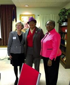 Salisbury Mayor Karen Alexander, left, Adams and East Spencer Mayor Barbara Mallett.