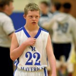 Jared wore No. 22 for his special appearance on the seventh-grade basketball team, which just happened to take place on his 14th birthday Monday.  Jon C. Lakey/Salisbury Post