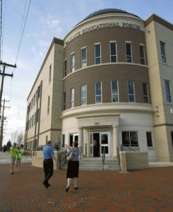 The new Wallace Educational Forum on North Main Street in Salisbury houses administrative offices of the Rowan-Salisbury School System.