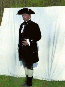 Submitted photo   Lynn Bull will be dressed much like this when he plays the role of George Washington in Salisbury May 21.