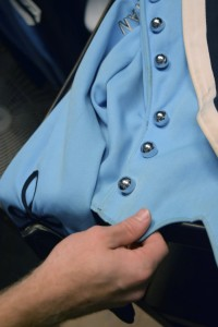 West Rowan's marching band uniforms get cleaned every season, but after 17 years, some stains just won't lift. Rebecca Rider/Salisbury Post