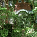 Ivy and other vegetation cover the front entrance to the 1922 house at 128 W. Thomas St.  Mark Wineka/Salisbury Post