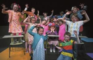The cast of Junie B. Jones The Musical, rehearses at The Norvell. JON C. LAKEY / SALISBURY POST