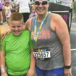 Jennifer Payne and son Mason after completing a color run in April. Submitted photo