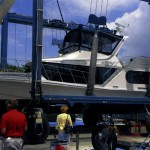 Natalie Rabon's 48-foot Bluewater yacht in dry dock in 2015. Submitted photo