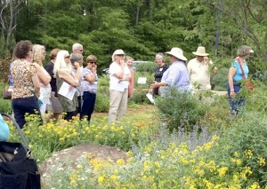 Cooperative Extension The Master Gardener class visited the Pollinator Paradise Garden in Pittsboro where Extension Agent Debbie Roos explained the value of these plants for pollinators.