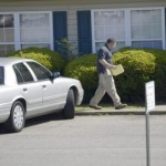 A Salisbury Police investigator walked to some apartments in the Crown Point complex where Tuesday night Lacynda Feimster, 38, was shot and killed inside her home there. A woman, also at the home, was struck in the face with a gun, but was not seriously injured. Shavonne Walker/Salisbury Post
