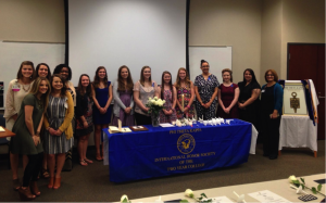 The photo above is of Cabarrus College's newly inducted Phi Theta Kappa members, as well as, their officers and faculty advisors.