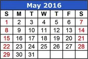 2016 Calendar Template 01