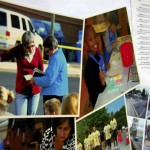 A collage featuring pictures of Lynn Raker at various events was posted on a wall during Raker's retirement party. She has been an urban design planner with Salisbury for 20 years. Amanda Raymond/Salisbury Post
