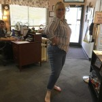 Norma Honeycutt wearing size 14 jeans for the first time in many years after losing 50 pounds. Submitted photo