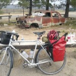 Four big bottles of water, ice, an ice cream sandwich and a huge cinnamon fueled my afternoon ride. Photo by David Freeze
