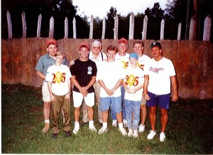 "Former members joined Troop 36 as it made ""The Hike"" for the 25th time in 1992. Submitted photo."