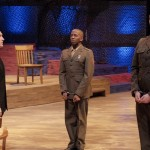 Justin Dionne, left, in 'A Few Good Men.' Photo by Staton Carter