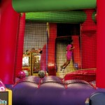 Gabrielle Davis, 5, spends time in one of the five inflatables at Bounce City. Jon C. Lakey/Salisbury Post