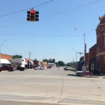 Both Roger Miller and Sheb Wooley came from Erick, Oklahoma. The street, left to right, is named for Miller and the other is named for Wooley. This is where Freeze spent Tuesday night. Photo by David Freeze
