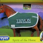 A limited edition Breyer Horse model of Brunello was offered with a blanket, marking the Tryon International Equestrian Center, where the Brunello Day was held June 10. Submitted photo
