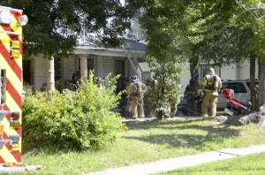 Firefighters responded Thursday to a kitchen fire that appeared to begin in the ceiling. The homeowner saw smoke and called for help at the North Main Street home. A firefighter was treated at the scene for heat exhaustion. No cause was immediately determined. Shavonne Walker/Salisbury Post