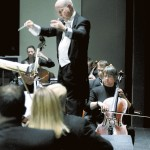Conductor David Hagy directs the Salisbury Symphony during a 2007 concert. File photo by Wayne Hinshaw