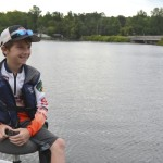 Ben Bauer is one of two students from N.C. competing at the middle-school level in Tennessee. His fishing partner is from Shelby. Photo by Susan Shinn
