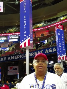 Dr. Ada Fisher at the National Republican Convention. Submitted photo
