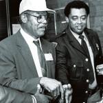 John L. Rustin Sr., left, in 1989, the year he was elected mayor East Spencer. He is shown with longtime fellow town aldermen John Noble. Salisbury Post file photo