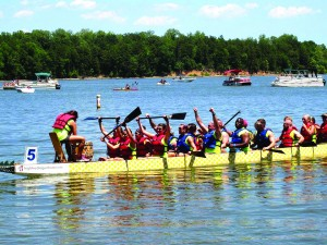 The third annual Rowan Chamber Dragon Boat Festival is Saturday at  High Rock Lake. Pictured: The Forum Team from the 2015 Dragon Boat Festival.