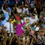An enthusiastic crowd greeted presidential candidate Hillary Clinton and President Barack Obama in Charlotte on Tuesday. Jon C. Lakey/Salisbury Post