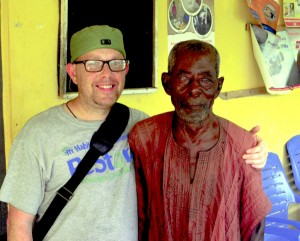 Jeffrey Motes, a nurse at Novant Health Rowan Medical Center, poses for a photograph with the chief of Butre during Motes' medical mission trip to Ghana, Africa. Submitted photo
