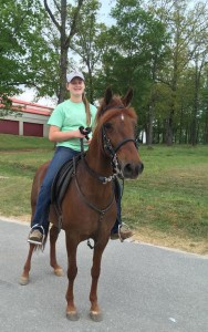 Micah Furr at her family's barn. Submitted photo