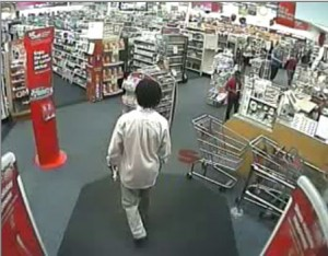 Salisbury Police say this man walked into CVS on East Innes Street and walked out with pills. Submitted photo