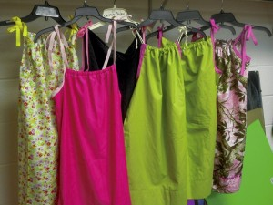 Dresses made from pillowcases