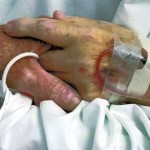 In their last days together in the hospital, Don and Margaret Livengood tried to hold hands as much as possible.    Submitted photo