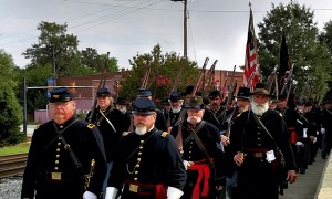 Civil War reenactors will provide living history demonstrations, musket fire, and troop movements.
