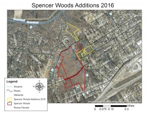 Submitted photo A map showing the new additions to Spencer Woods, also known as the Fred and Alice Stanback Educational Forest.