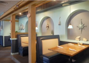 """Amanda Raymond/Salisbury Post Castaways Seafood Bar and Grill at 119 N. Link Ave. can seat 100 guests in its center room, 56 in the """"porch cabana"""" and 56 in its banquet room. The restaurant offers fresh, boat-to-plate seafood."""