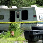 While investigating the fatal shooting Monday on Foster Road, deputies discovered meth labs at suspect James Stewart's home. Stewart was living in a camper behind the home of his mother, Wanda Stewart. Jon C. Lakey/Salisbury Post