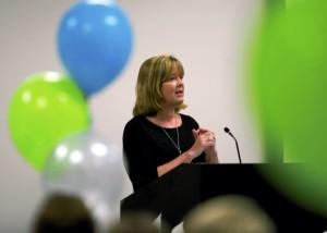 Teacher of the Year Nancy Goodnight challenged new teachers to dream big.  Jon C. Lakey/Salisbury Post