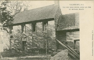 Submitted photo This Theo Beurbaum Postcard from the late 1800s shows the original Old Stone House near Granite Quarry, built in 1766. The Rowan Museum will be holding a special celebration to honor the 250th anniversary of the house on Sept. 17.