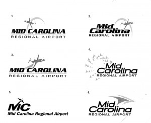 Submitted photo - The Rowan County Airport Advisory Board got a look at a nine total logos that could be adopted as part of a coming name change at the facility. No specific logo was selected on Friday.