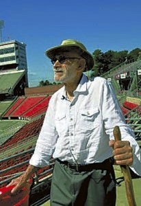 Photo courtesy of N.C. State University  Architect Charles H. Kahn, who now lives in Chapel Hill, recently toured today's Carter-Finley Stadium, which is celebrating its 50th year this football season. Kahn, who has strong Salisbury connections, was one of the principal designers of the stadium, home of the N.C. State University Wolfpack.