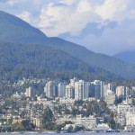 Vancouver, B.C., is ringed by mountains and stretches down to the Salish Sea. The city is separated by Vancouver Harbor. North Vancouver, pictured here, runs right up against the mountains.