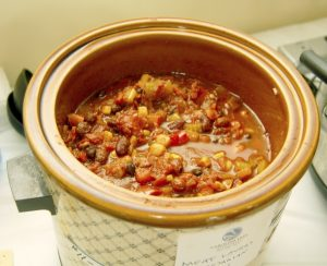 Deirdre Parker Smith/Salisbury Post One of the winners, a mild vegetarian chili made with nuts by Mary Kay and Todd, Cole and Dew Hansen.